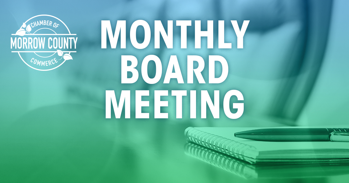 Morrow Chamber - Monthly Board Meeting