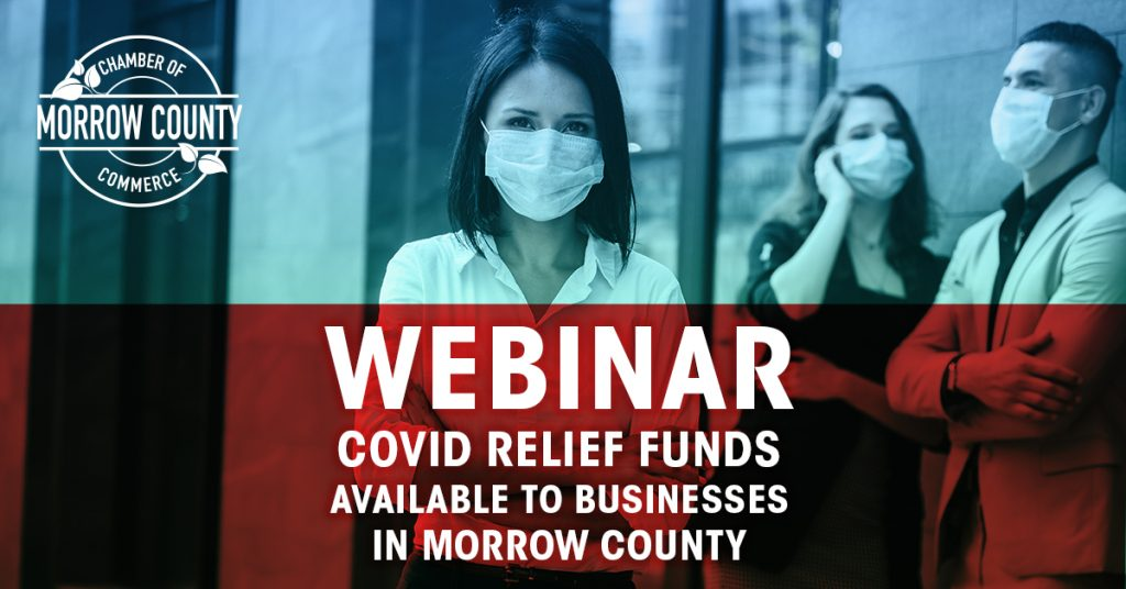 COVID Relief Funds available to Morrow County businesses -Webinar