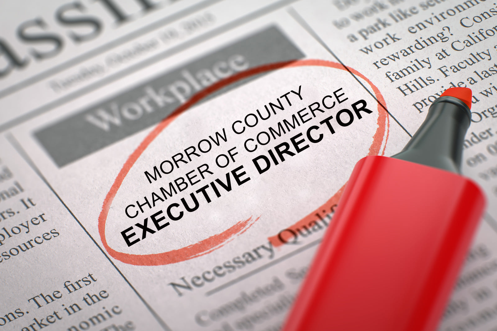 Morrow County Chamber of Commerce - Executive Director Job Opening